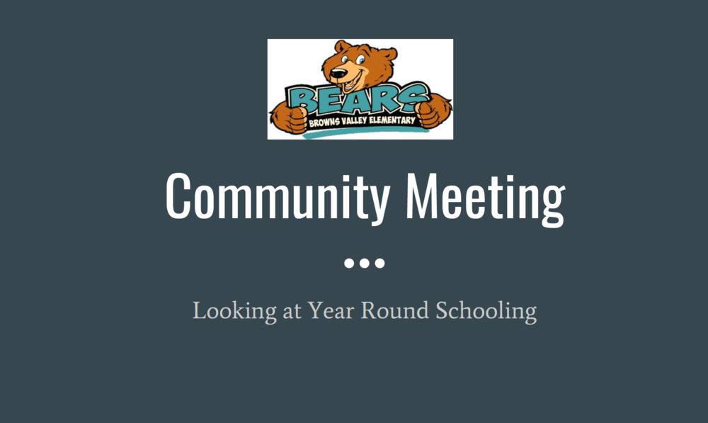BV community meeting presentation