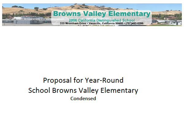 Browns Valley Year round proposal